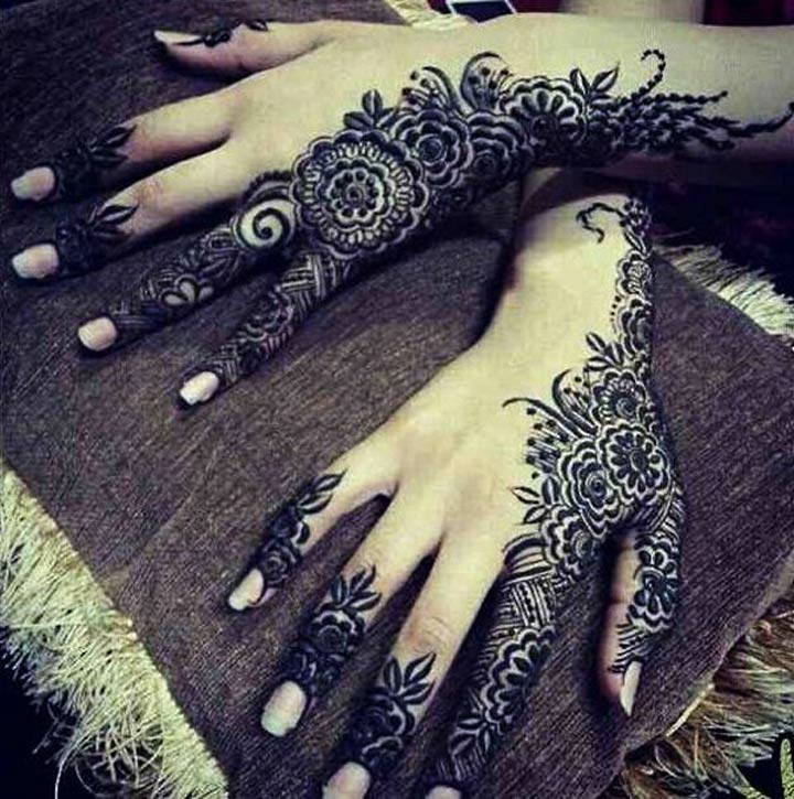Ornamental Arabic Mehndi Design For Back Hands