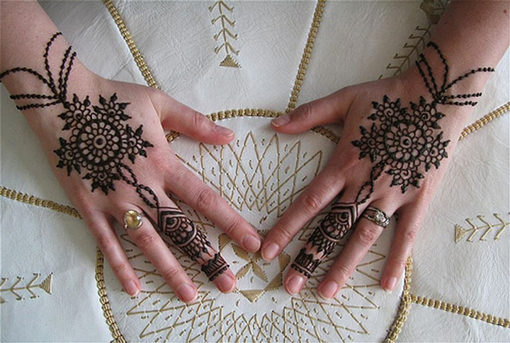 Wrist Mehndi Patterns : Mehndi designs for back hands arabic the top picks
