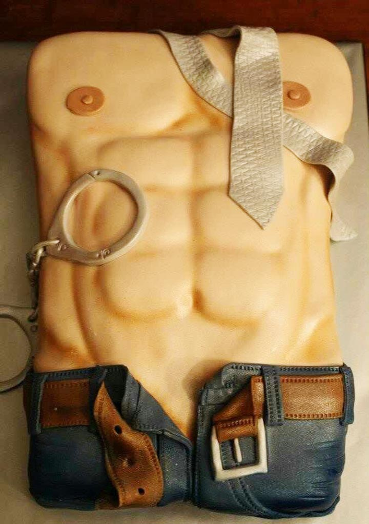 the full monty naughty bridal shower cake