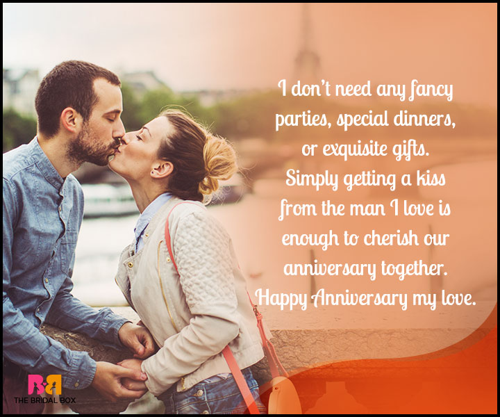 Love Anniversary Quotes For Him - A Kiss From The Man I Love