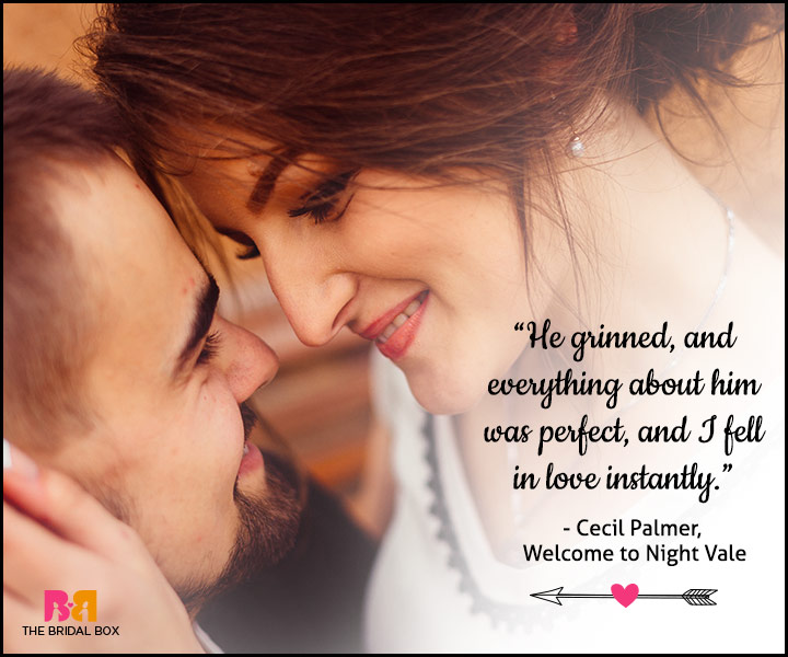 Love At First Sight Quotes - Cecil Palmer
