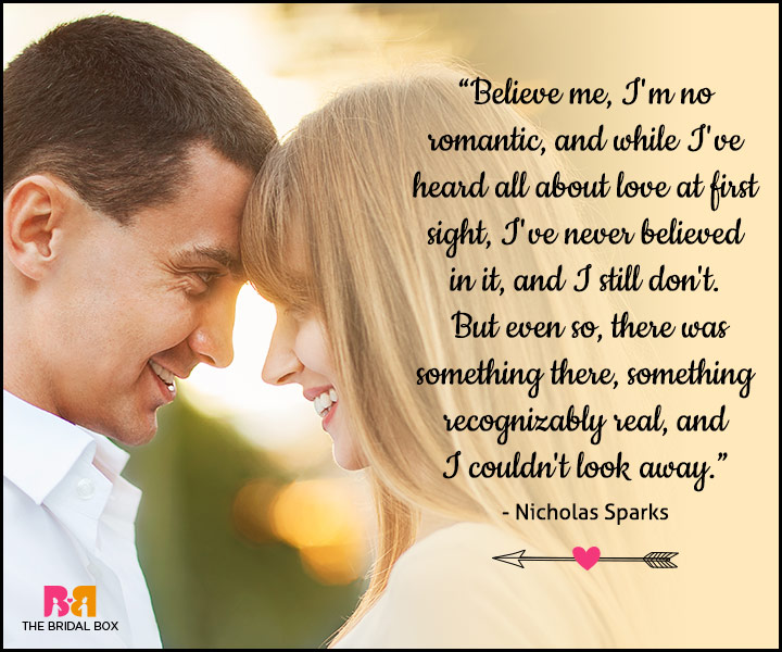 Love At First Sight Quotes - Nicholas Sparks