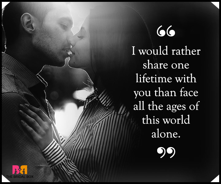 One Liner I Love You Quotes : One Liner Love Quotes For Him - One Lifetime With You