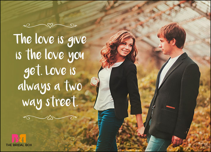 One Line Love Quotes - The Love You Give