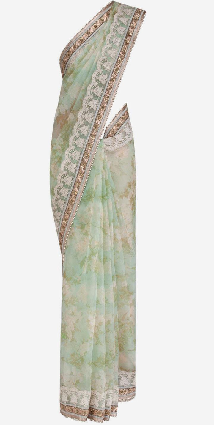 Organza (Kora) With Zari And silk