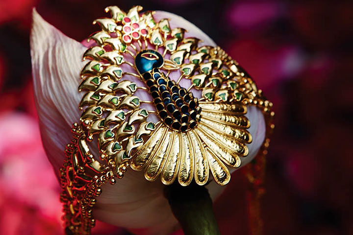 Tanishq Wedding Jewellery - Peacock Motif Armlet In Gold