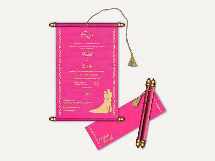 Pink-Scroll-Wedding-Cards