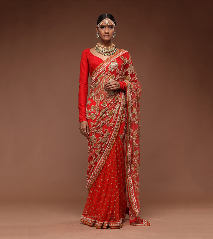 10 sensational sabyasachi bridal lehenga saree twists to sashay in