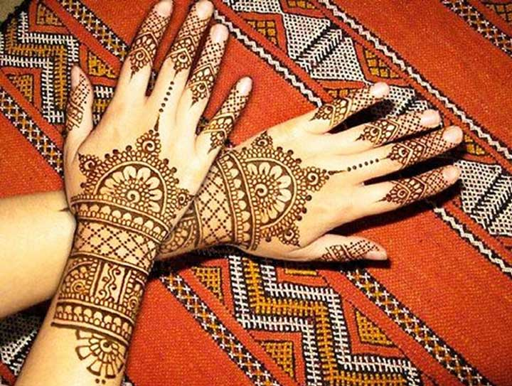 Architectural Arabic Mehndi Design For Back Hands