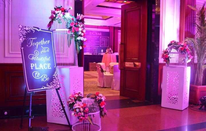 Wedding Reception Decorations-cage decoration
