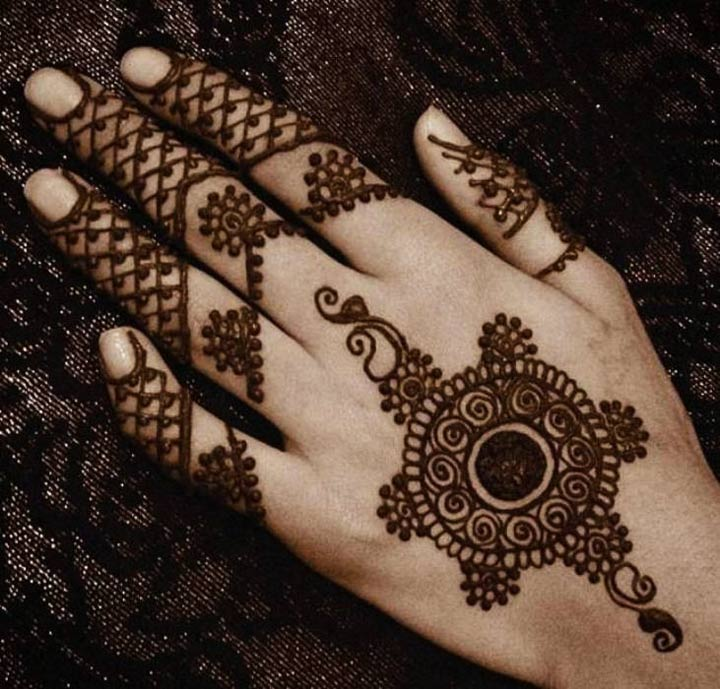 Fishnet Arabic Mehndi Design For Back Hands
