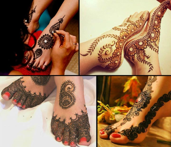 Bedazzling Feet - Dulhan Mehndi Designs For Legs