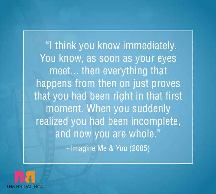 Famous Love Quotes From Movies - Imagine Me & You
