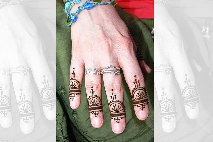 Ornamental Ring Design - Mehndi Design For Groom