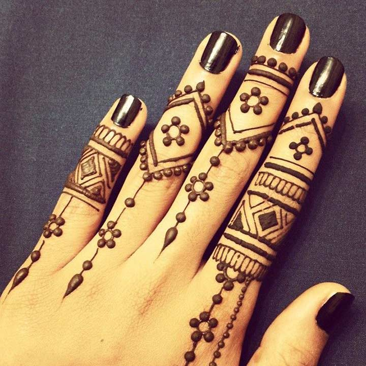 Mehndi Hand Tattoo Art : Arabic mehndi design for fingers top picks of