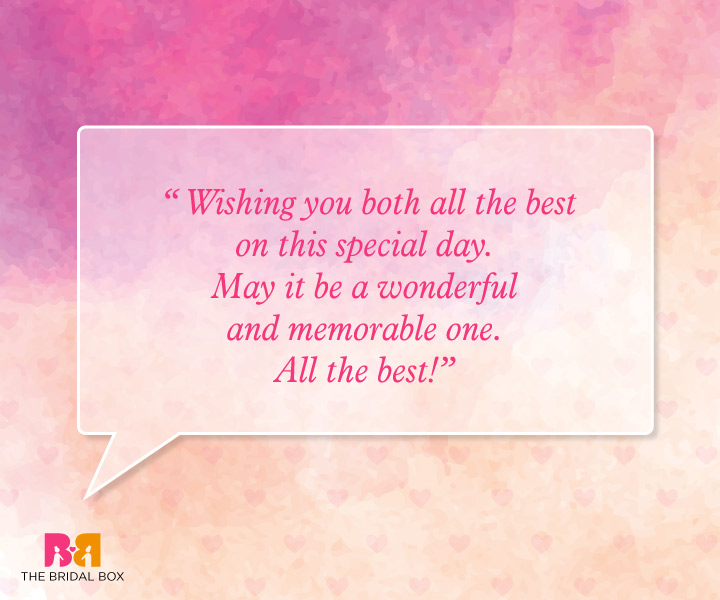 Marriage Wishes Quotes - Wishing You Both All The Best