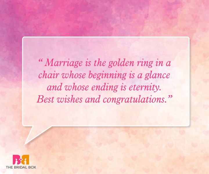 Marriage Wishes Quotes - The Golden Ring