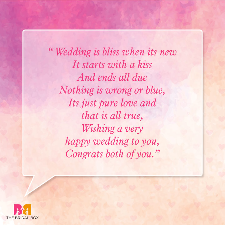Marriage Wishes Quotes - Wedding Is Bliss