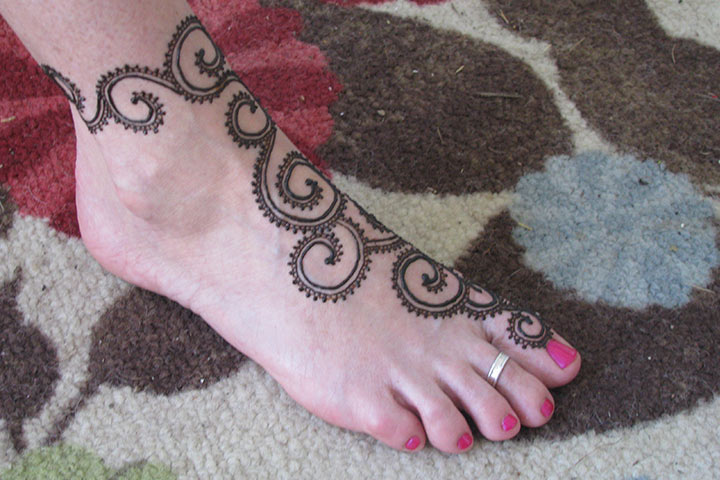 Mehndi For Lags : Arabian mehndi design for leg with luxury picture in spain