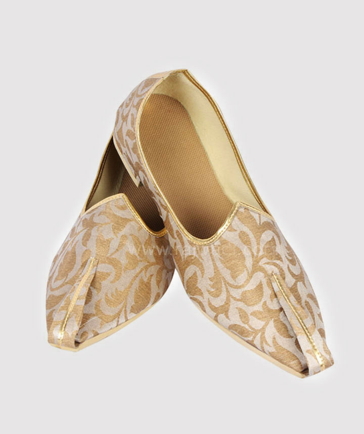 Wedding Shoes For Men - white mojari