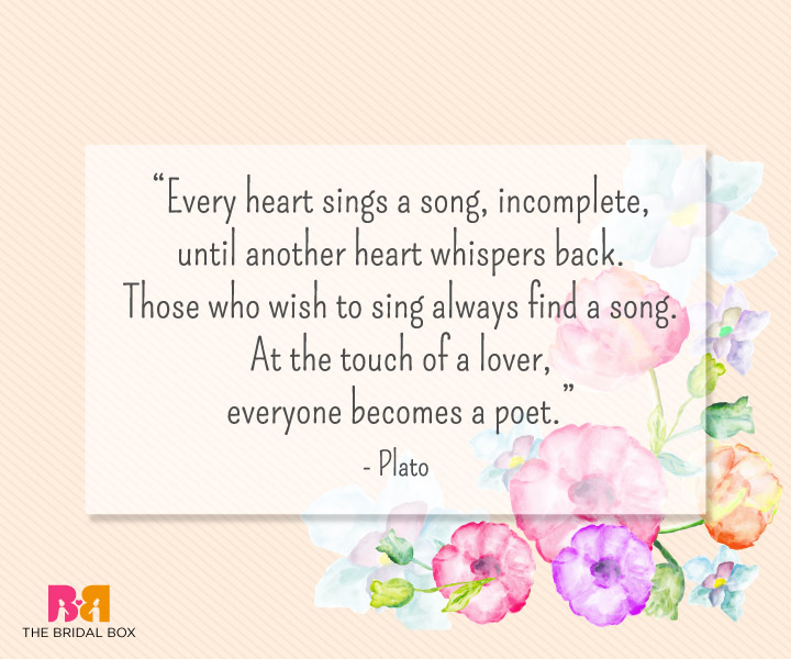 Heart Touching Love Sms - Plato