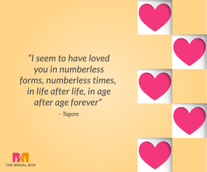 Deep Love Quotes For Him – Tagore