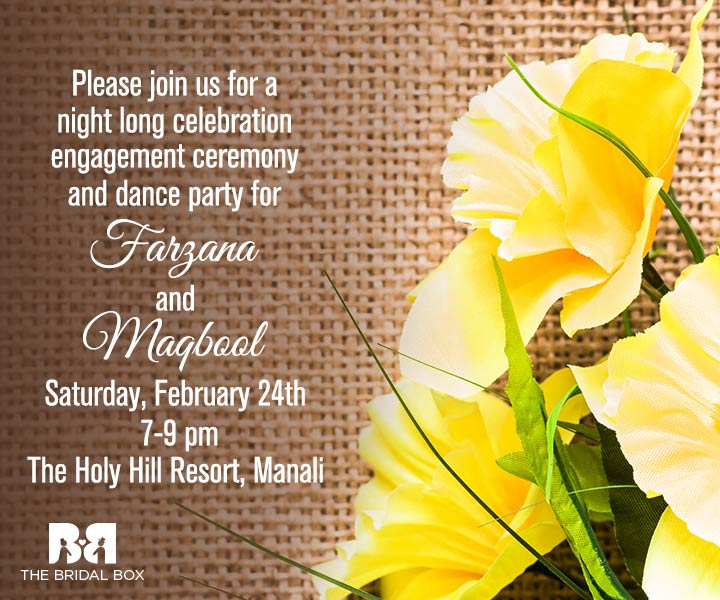 9 Must-have Indian Engagement Invitation Wording Ideas