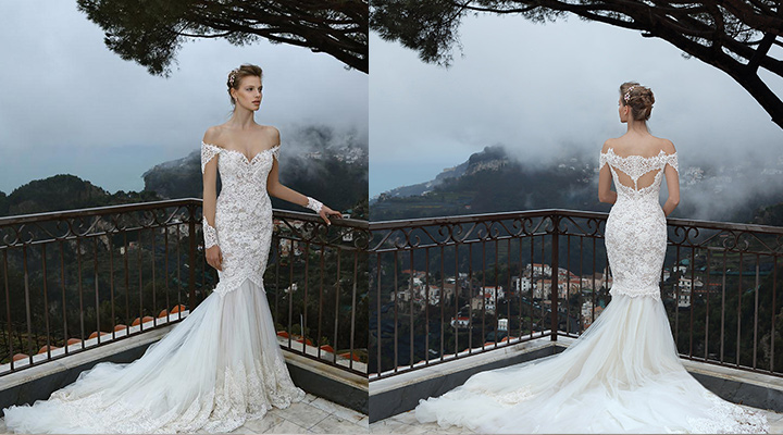 The Stunning White Lace Mermaid Wedding Dress By Michal Medina