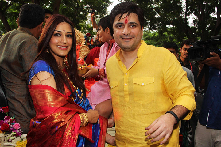 Sonali Bindre and husband Goldie Behl