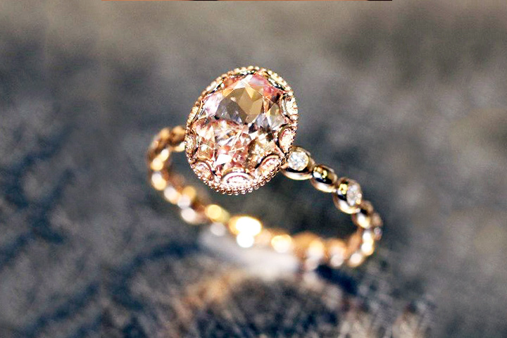 Rose Gold Engagement Rings - The Oval Pebble