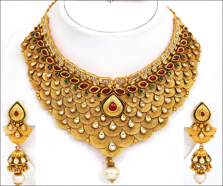 Bridal Gold Jewellery Sets - Antique Look Set