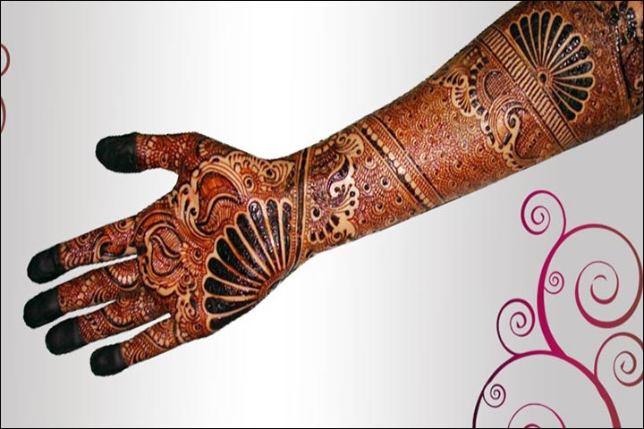 The Eye Of The Peacock Feather Arabic Bridal Mehndi Design for hands