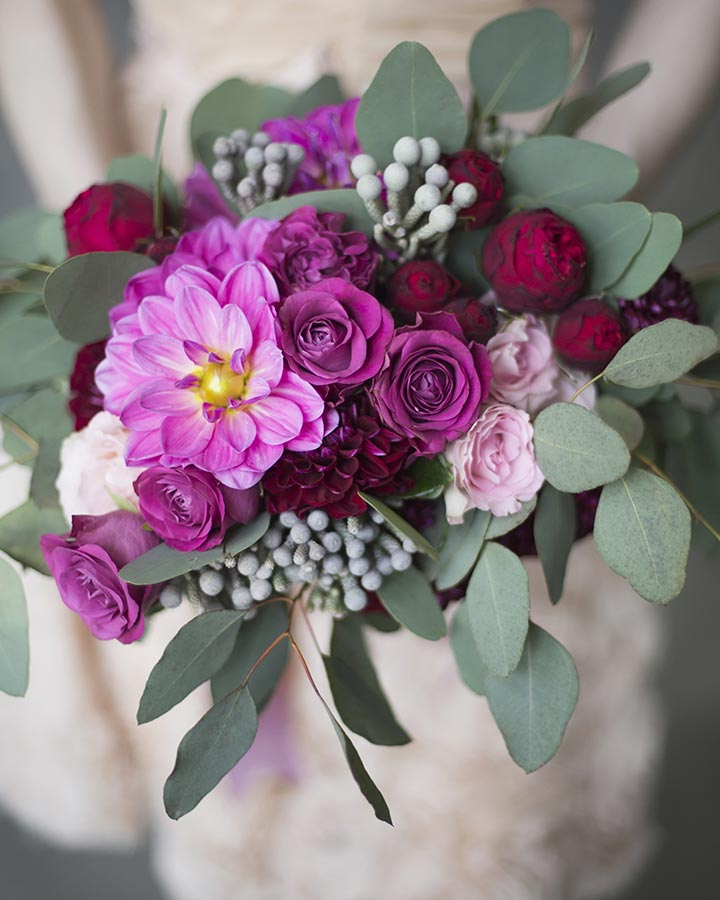 Wedding Bouquets - Blood Burgundy