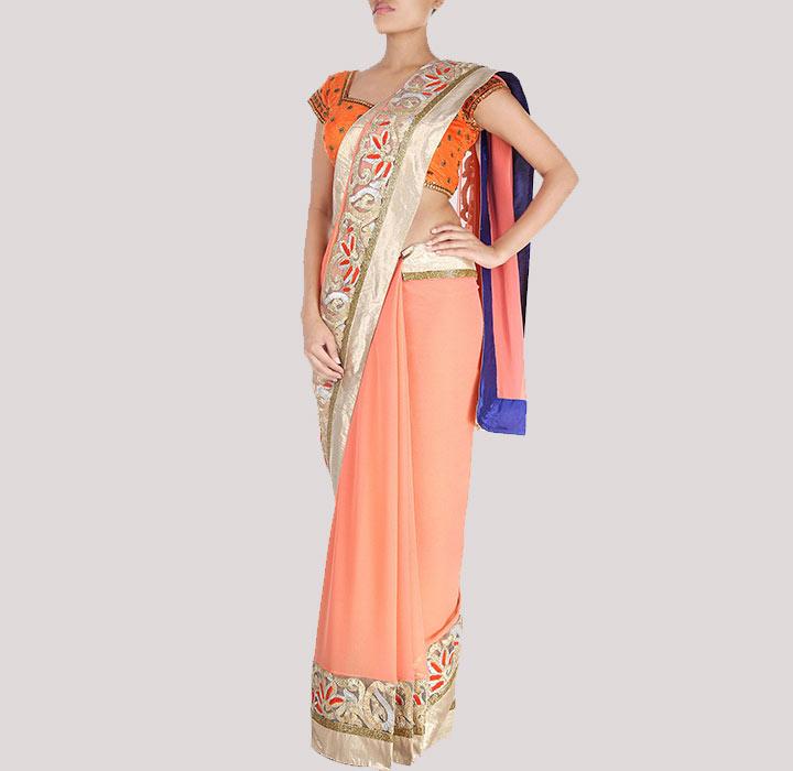 Bridal Designer Saree byBy Rohit Bal