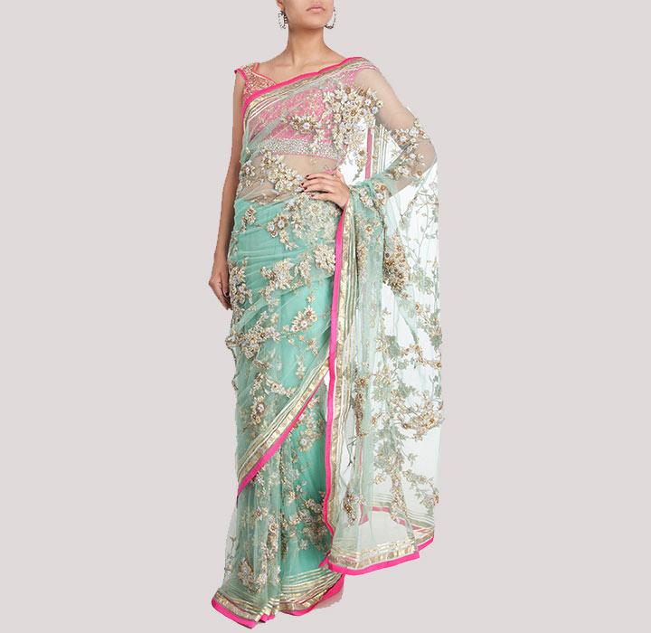 Bridal Designer Saree by Pam Mehta