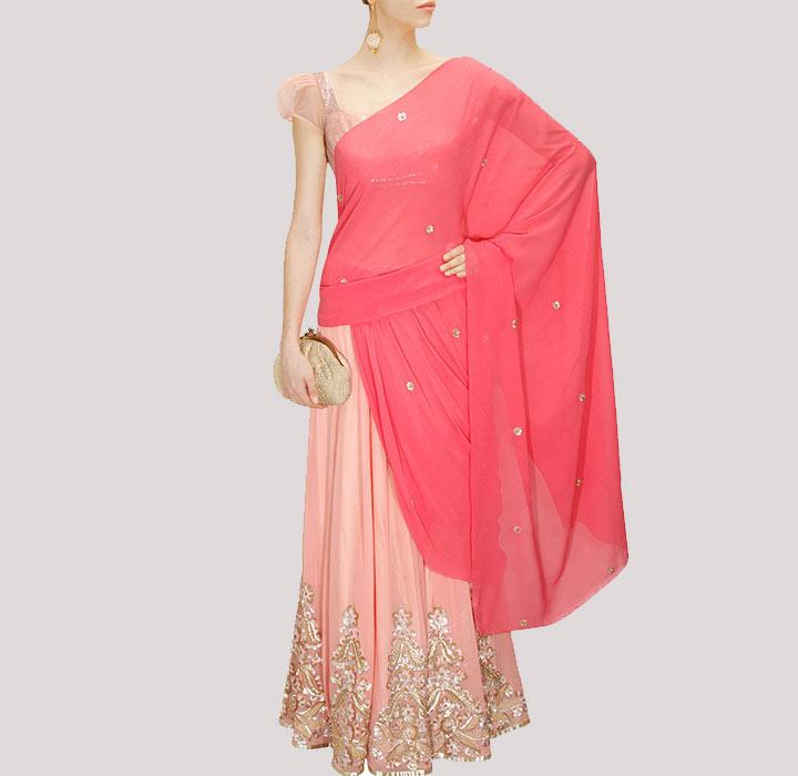 Bridal Designer saree by Shehla Khan