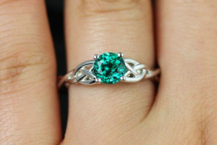 Emerald Engagement Rings - The Celtic Weave