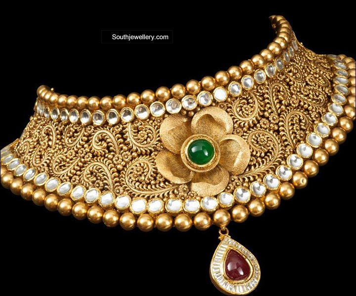 south bridal gold plated indian jewels sets wedding jewellery subham set india