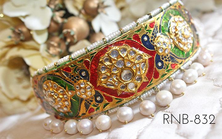 Bridal GoldNecklace - Colourful Meenakari