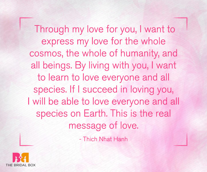 Deep Love Quotes For Her - Thich Nhat Hanh