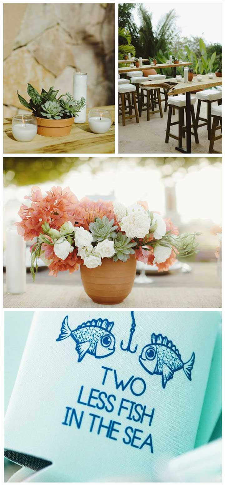 Engagement Party Decoration Ideas Home engagement party decorations 8 Two Less Fish Engagement Decorations