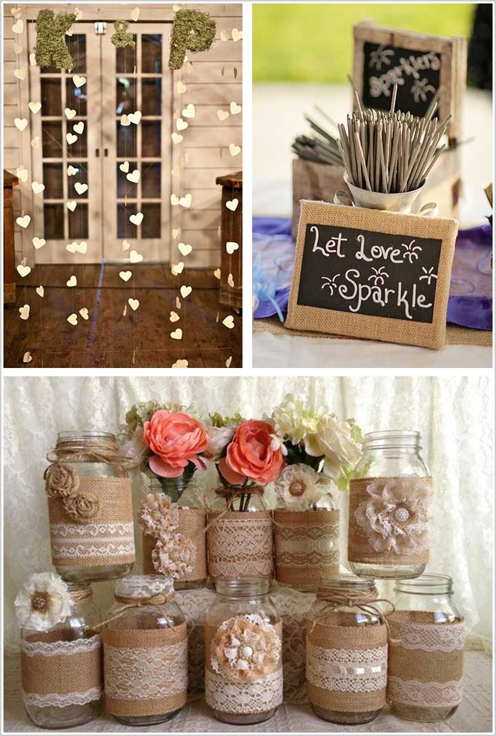 Paper Heart Curtains - Engagement Decorations