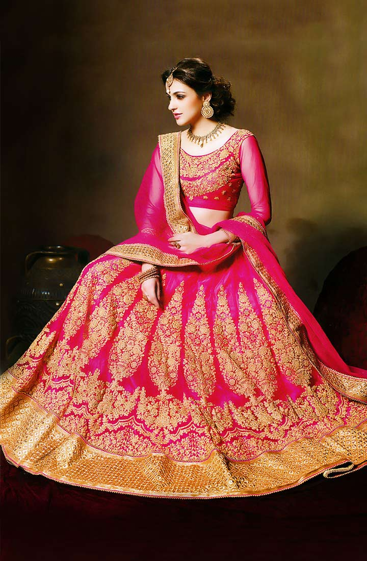 Bridal Lehenga Choli With Price - Fabulously Fuchsia