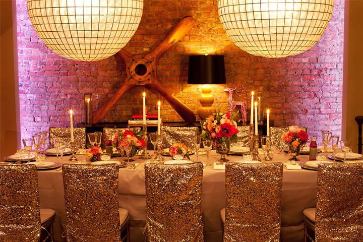 Glamorous Gold Wedding Decorations 1