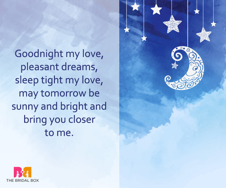 good night love messages may tomorrow bring us closer