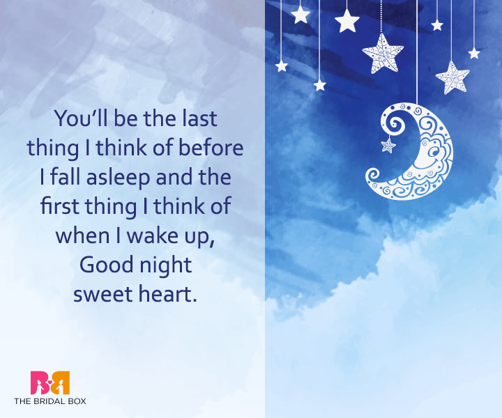 Good Night Love Messages - I'm Thinking Of You