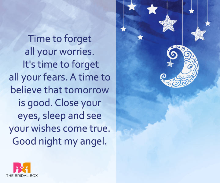 Good Night Love Messages - Time For Bed