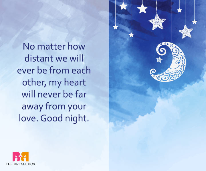 Good Night Love Messages - No Matter The Distance