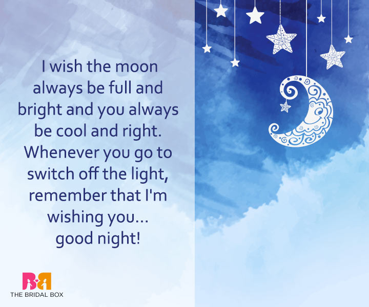 Good Night Love Messages - Wishing For The Moon