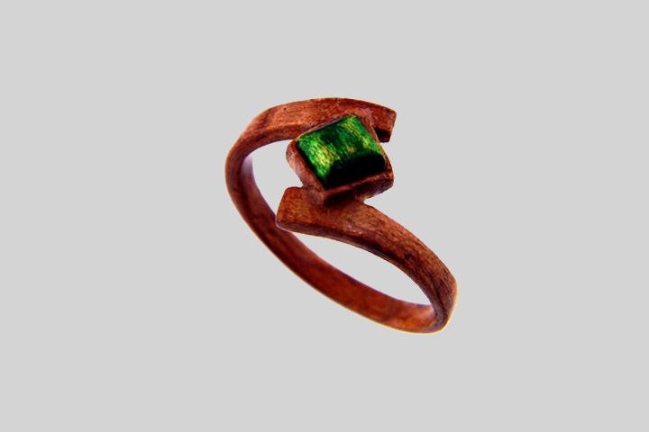 Emerald Engagement Rings - Hand Carved & Wooden